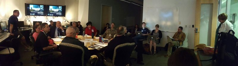 PHI Experiment Week 1 team meeting in the NSSL Dev Lab