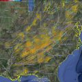 An NSSL product captures rotation tracks during the April 27-28 tornado outbreak
