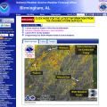 The NWSFO in Birmingham, Ala. used an NSSL product to plan surveys of damage caused by the tornadoes yesterday.
