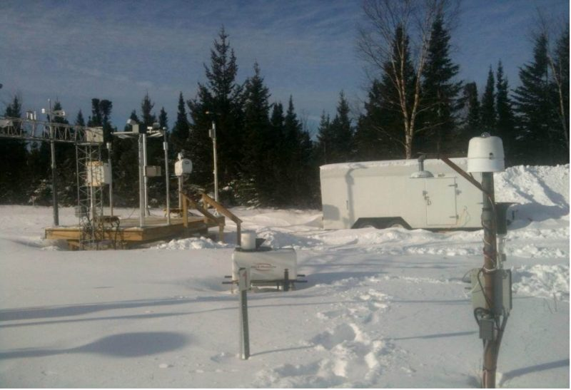 Central instrument site at Goose Bay, Canada