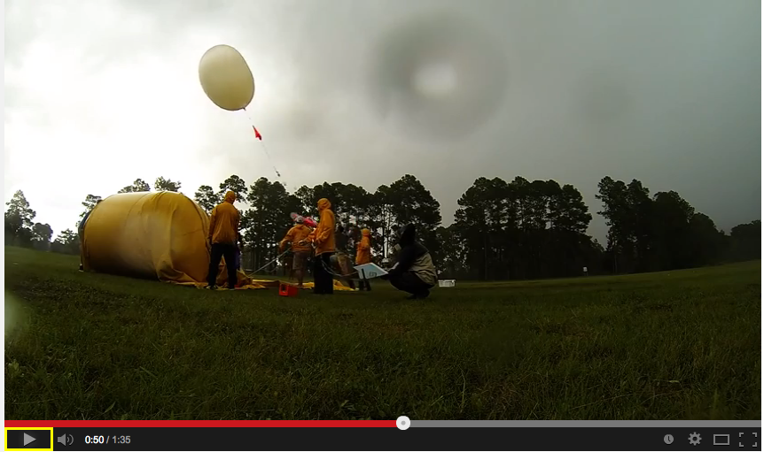 Simultaneous balloon launches in north Florida.