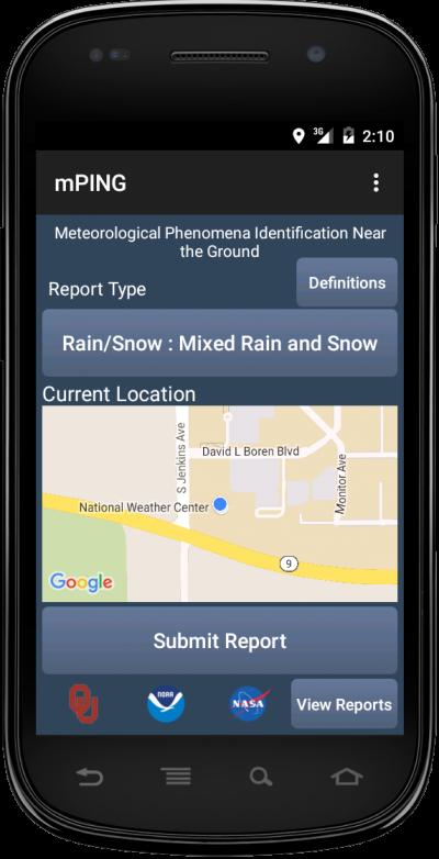 mPING app 2016