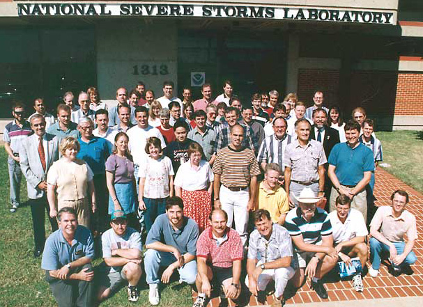 Doviak in the 1997 NOAA NSSL staff photo.