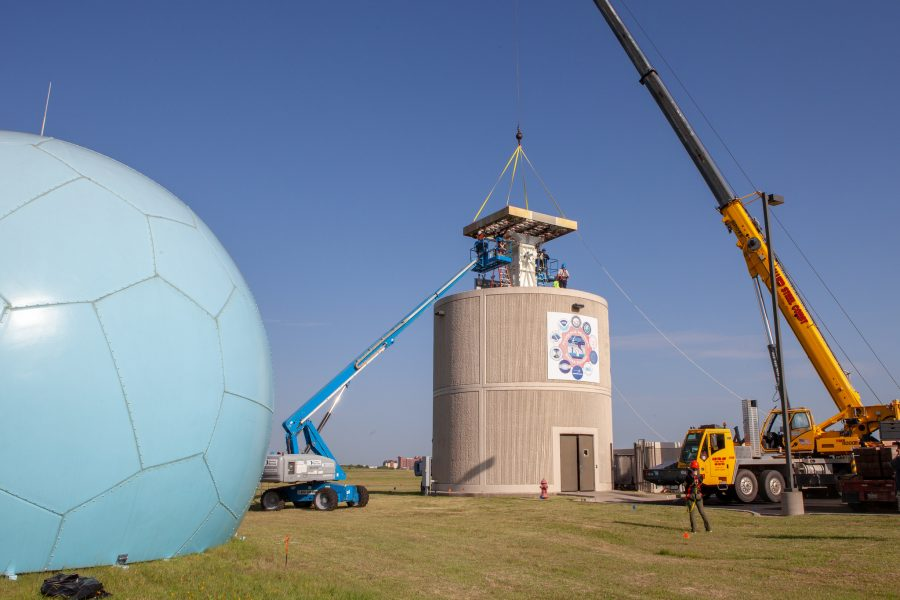 The Advanced Technology Demonstrator being installed.