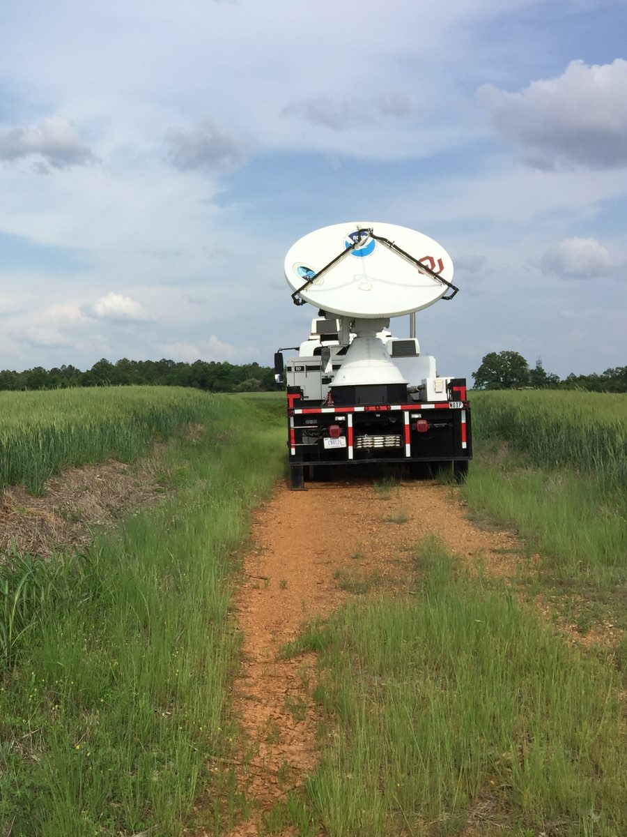 mobile radar in field