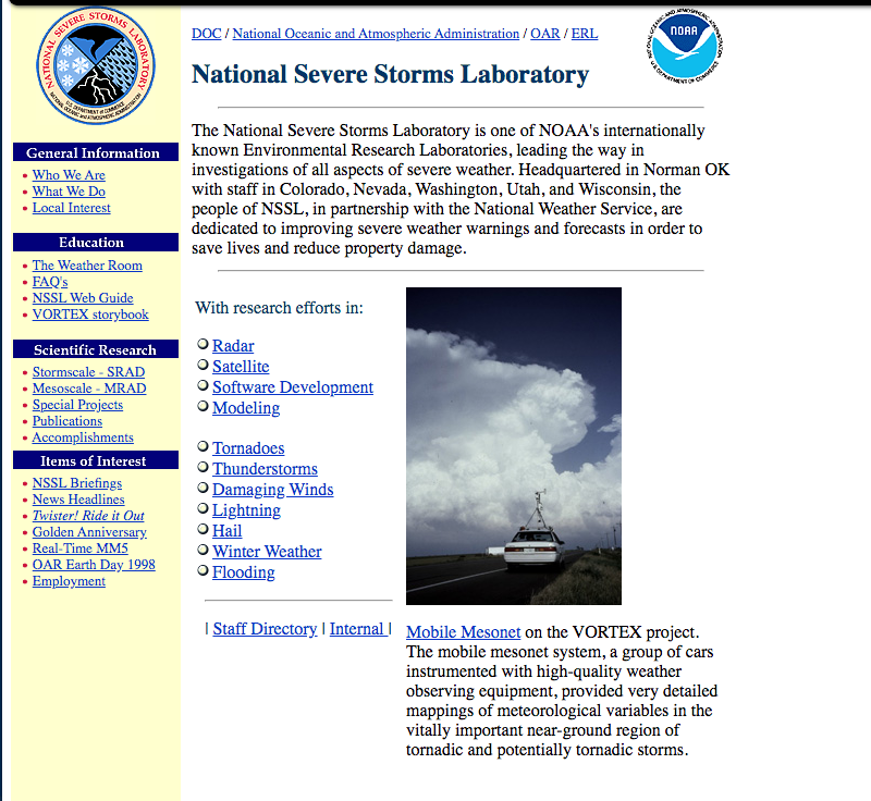 The 1994 NSSL website