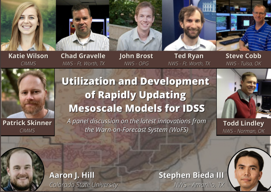 A graphic saying Utilization and Development of Rapidly Updating Mesoscale Models for IDSS.