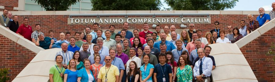 Staff photo of NSSL employees in 2012