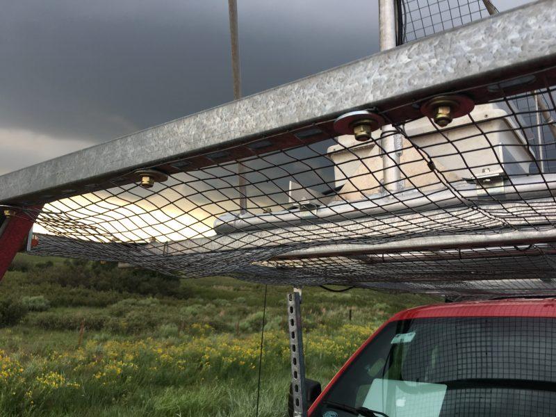 Hail damage on mobile mesonet