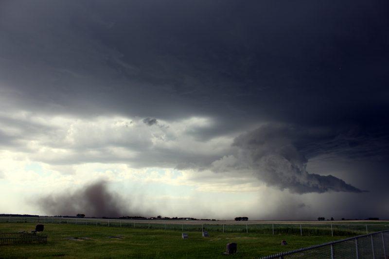 June 9 downburst with blowing dust