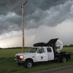 W-band radar scans a storm near Willow, Oklahoma. Credit: Robin Tanamachi
